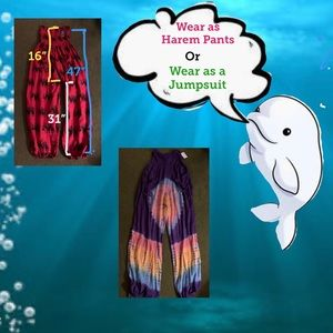 🐬 Multicolored HaremPants/Jumpsuit with Pockets